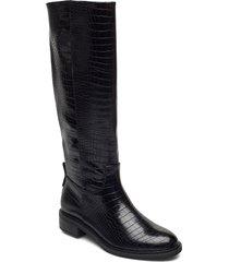 woms boots höga stövlar svart tamaris