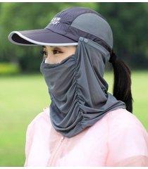 nuevo protector solar exterior para mujer, sombrero para el sol gris