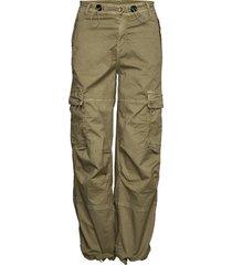 cargo loose byxa med raka ben grön please jeans