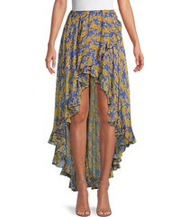 adelle silk asymmetrical skirt