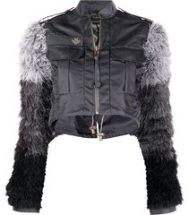 mr & mrs italy audrey tritto capsule cropped jacket with removable bolero