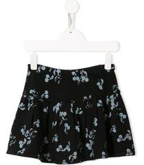 bonpoint cherry print short skirt - blue
