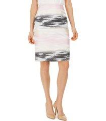 kasper ombre jacquard pencil skirt