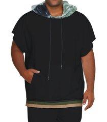 mvp collections by mo vaughn productions men's short sleeve tie-dye hoodie