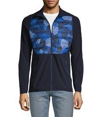 active hybrid mixed-media jacket