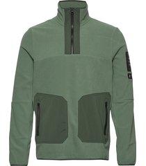 m tech fleece tn sweat-shirt trui groen peak performance