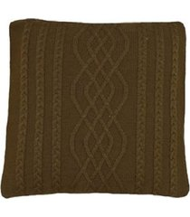 capa almofada tricot 45x45cm c/zãper sofa trico cod 1026 marron - marrom - feminino - dafiti