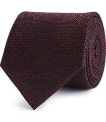 reiss ceremony - textured silk tie in burgundy, mens