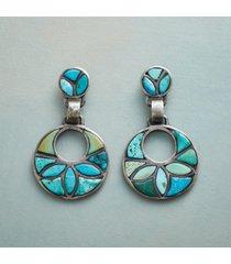 turquoise in bloom earrings
