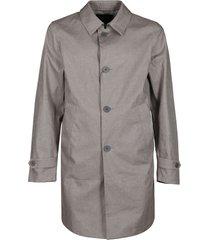 herno grey single breasted coat