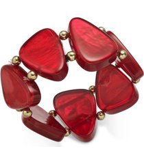 style & co bead & resin stretch bracelet, created for macy's