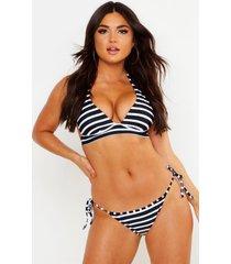 paphos mix & match nautical push up plunge bikini top, black
