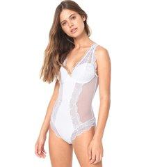 body calvin klein underwear renda branco