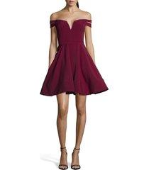 women's xscape double strap off the shoulder party dress
