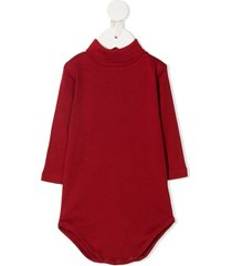 bonpoint turtleneck long-sleeve bodysuit - red