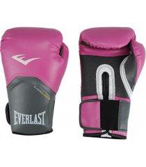 luvas de boxe everlast pró style training - 14 oz - feminina - rosa