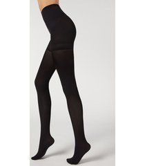 calzedonia 50 denier total shaper tights woman black size xl