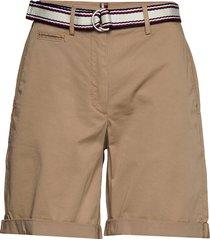 gmd cotton tencel slim bermuda bermudashorts shorts beige tommy hilfiger