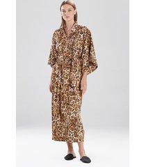 natori cheetah sleep & lounge bath wrap robe, women's, size l natori