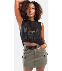 ariana sweater tank top - black
