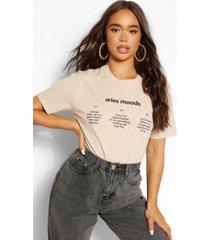 aries moods horoscope t-shirt, sand