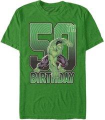 fifth sun men's marvel hulk smash 50th birthday short sleeve t-shirt