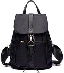 mochila casual mujeres- otoño e invierno hombro bolsa-negro
