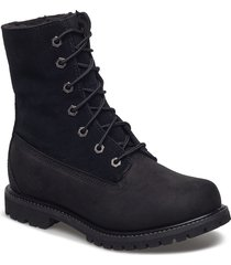 authentics teddy fleece wp fold-down shoes boots ankle boots ankle boot - flat svart timberland