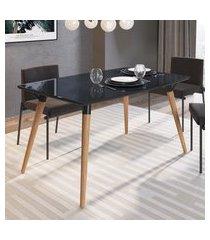 mesa de jantar retrô 4 lugares artesano valentinna preto fosco
