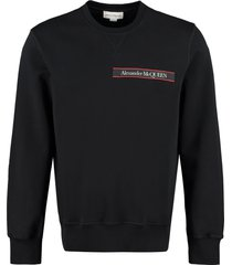 alexander mcqueen cotton crew-neck sweatshirt