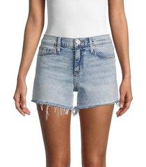 hudson women's gracie mid-rise denim shorts - seychelles - size 26 (2-4)