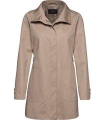 coats woven dunne lange jas beige esprit collection