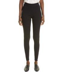 co rib high waist silk blend leggings, size x-large in black at nordstrom