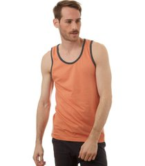 px striped tank with contrast binding