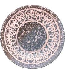 conjunto de 6 pratos fundos 20,5cm unni elo - multicolorido - dafiti