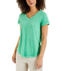 style & co burnout v-neck t-shirt, created for macy's