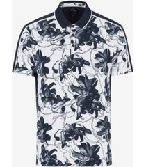 ax armani exchange men's tropical print polo t-shirt