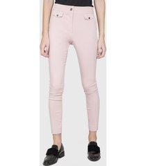 pantalón  ash pitillo rosa - calce ajustado