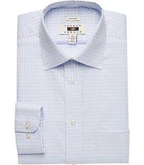joseph abboud blue check modern fit dress shirt