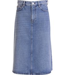 balenciaga 5 pocket denim skirt