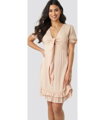 trendyol knot detailed mini dress - pink