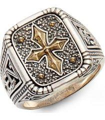men's konstantino stavros square signet ring