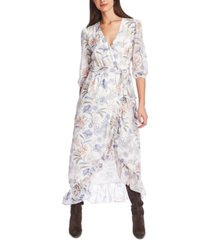 1.state floral-print wrap dress