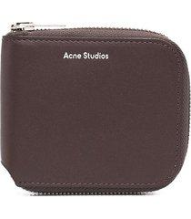 acne studios compact bifold wallet - brown