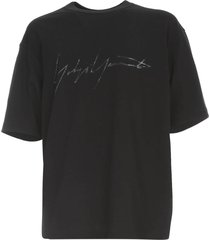 y-3 m distressed signature s/s t-shirt