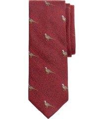 corbata pheasant rojo brooks brothers
