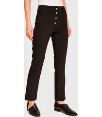 pantalón ash recto negro - calce regular