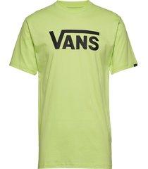 mn vans classic sharp green/bla t-shirts short-sleeved grön vans