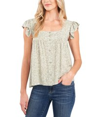 cece ditsy floral-print top