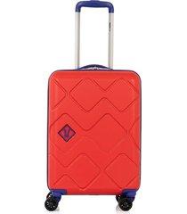 maleta viajera de ruedas fondo contrastes de color para niño 08296
